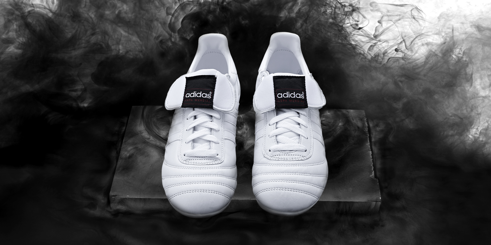 b9fa90b1782 ... adidas have reissued the iconic Copa Mundials in a ridiculously good  looking all black and all white. Adidas Football B W Copa White Hero 01