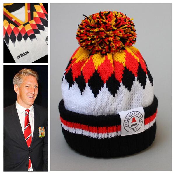 Rosso Bianco Nero BASTIAN bobble hat – GEAR THERE EVERYWHERE 66bef922697